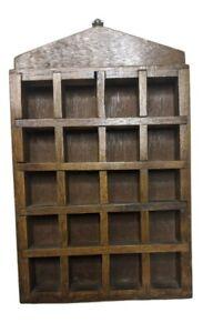 Small Wood Trinket Knick Knack Shadow Box Wall Shelf Farmhouse Cottage Core