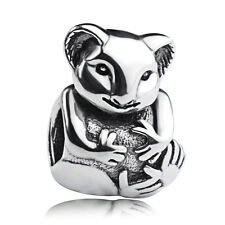 authentic S925 sterling silver charms beads animals koala fit European Bracelet