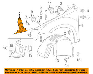 VW VOLKSWAGEN OEM 15-17 Golf-Fender Mounting Bracket Right 5G0821136B