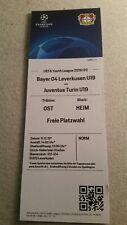 TICKET UEFA YOUTH LEAGUE19/20 BAYER LEVERKUSEN U19 v JUVENTUS TURIN U19