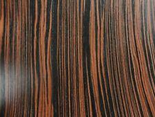 "Ebony Macassar composite wood veneer 48"" x 96"" on paper backer 1/40"" thick # 603"