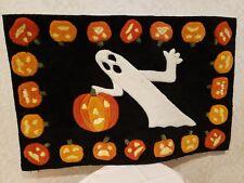 """Halloween Ghost Doormat Entry Door 22"""" x 35"""" Slightly Used"""
