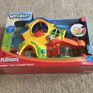 New Playskool WEEBLES Wobble Turn N' Tumble Musical Tree House Playset