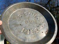(FEEDMORE DONATION) Disc Golf Frisbie's Pie Tin Frisbie PDGA w/free Friisbee Pin