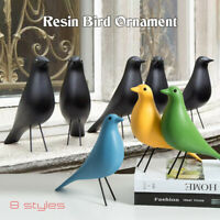 Retro Eames House Bird Pigeon Figurine Resin Dove Desk Decor Ornament 8 colors