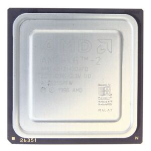 AMD-K6-2/380AFR 380MHz/32KB/95MHz Sockel/Socket Super 7 CPU Processor 32bit