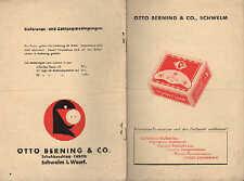 SCHWELM, Prospekt um 1935, Otto Berning & Co. Schwelma Schuh-Beschlag-Fabrik