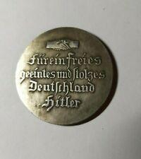 Piece Hitler 1936 1RM Reichsmark Coin Furein Freies ww2 German