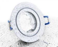 Feuchtraum Einbau Spot Weiss rund mit Schutzglas -#7354