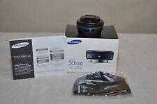 Samsung NX 30mm f/2 Pancake Fixed/Prime Lens (Black) Box *** Used one - Mint ***