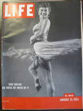 LIFE Jan 25, 1954 1954 car ads; Monroe-Dimaggio wedding; THULE Baylor, avalanche