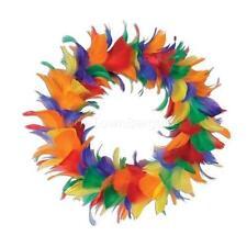 Gay Pride Wreath Door Wall Home Decor Rainbow Feathers