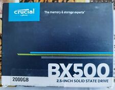 Crucial CT2000BX500SSD1 SSD Interne BX500 (2 To, 3D NAND, SATA, 2,5 pouces)