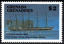 Grenada postfrisch MNH S.S. Great Britain Dampfschiff England Segelschiff / 19