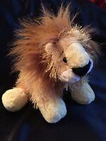 "Ganz Webkins Fuzzy Lion 10"" Plush Stuffed Animal NO Code SANITIZED"