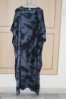Women'S Loose Kaftan Plus Size Tie-Dye Beach Caftan Long Maxi Gown Night Dress