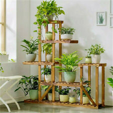 More details for multi tier wood flower rack plant stand wood shelves bonsai display shelf indoor