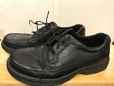 Nunn Bush Mens Colton Oxford 83055-78 Black Shoes 8.5 WIDE Leather Upper EUC