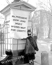 Photograph Suffragette Alison Turnbull Hopkins at the White House Year 1917 8x10