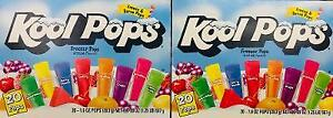2 Boxes Kool Pops Freezer Bars 20ct Each   *~* FAST FREE SHIPPING ! *~*