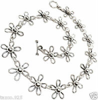 TAXCO MEXICAN 925 STERLING SILVER DAISY FLORAL FLOWER NECKLACE MEXICO