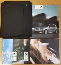 GENUINE BMW 1 SERIES E81/E87  HANDBOOK OWNERS MANUAL WALLET 2004-2007 PACK F-292
