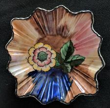 Vintage H&K Tunstall - Floral Art Deco Hand Painted Pin Dish / Trinket Bowl