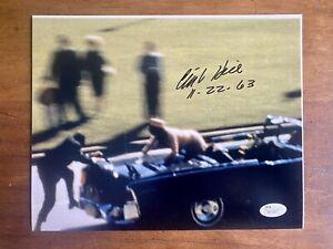 Clint Hill Secret Service President Kennedy JFK JSA COA SIGNED 8x10 AUTOGRAPH
