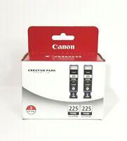 Canon PGI-225 Twin Ink Cartridge NEW Black PGI 225PGBK 2 ink tanks