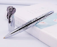 Fuliwen Elephant Head Rollerball Pen with Refill, Delicate Silver Signature Pen