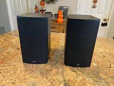 New listing Boston Acoustics Cr6 Black Wood Cabinet Bookshelf Stereo Speakers