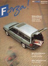 Fiat Forza Magazine Spring 1991 UK Market Brochure 500 Panda Uno Turbo Croma