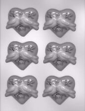 Hearts with Doves Chocolate Clear Candy Mold from CK 90-1646 - NEW