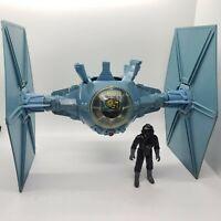 Vintage 1978 Star Wars Tie Fighter Imperial Blue Complete Works Kenner + Pilot