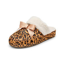 Vionic Nessie 10011285TAN5M Women's Tan Leopard Suede Fashionable Slippers US 11