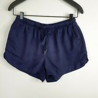 NSW $49.95 All About Eve Karsha Shorts Navy Blue Pockets Jogger Lyocell Size 10