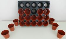 PK(100) 6CM GOOD QUALITY FLOWER POTS WITH 5 X 20 CELL CARRY TRAYS TO FIT