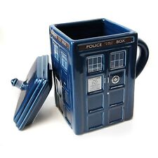 Doctor Who TARDIS Figural coffee Mug with removable lid officially licensed DR