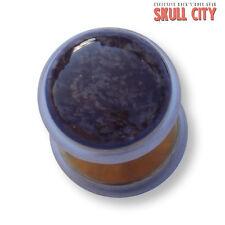 Snow Flake Obsidian ORO Gemstone Fakeplug-Fake piercing Stone plug orecchini a bottone