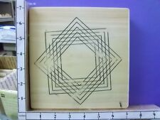 Large Multi lines Squares Overlap angle square  rubber stamps 26V