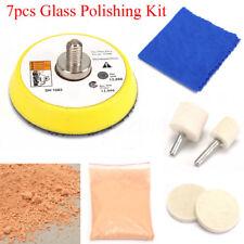 7pcs Glass Polishing Kit Cerium Oxide Powder For Car Windscreen Scratch Remover