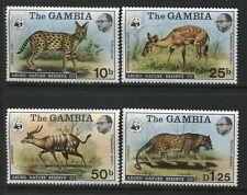 Gambia 1976 WWF set mint o.g. hinged