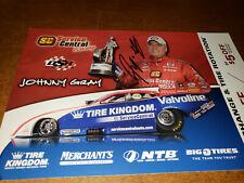 NHRA FUNNYCAR DRIVER JOHNNY GRAY  AUTOGRAPHED 8X10 HANDOUT PHOTO CARD
