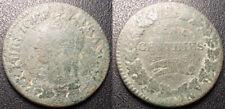 """DIrectoire - 5 centimes Dupré """"refrappage"""" du Décime l'an 5 I, Limoges - F.114/7"""