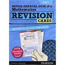 REVISE Edexcel GCSE (9-1) Mathematics Higher Revision Cards+Free online revision
