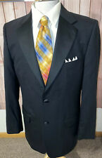 Joseph Abboud Joe Black Tuxedo Blazer Jacket 2 Button 100% Wool Men's Size 40L