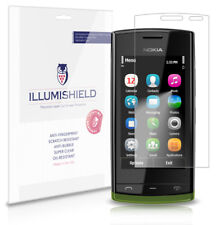 iLLumiShield Phone Screen Protector w Anti-Bubble/Print 3x for Nokia 500