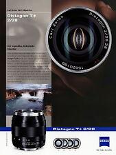 Prospetto foglio dati Zeiss obiettivo della fotocamera Distagon T 2/28 2010 brochure Lens