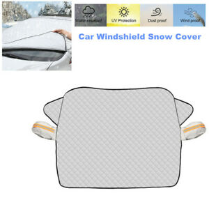 1PCS Car Windshield Snow Cover with 2 Layer Protection Fits for Most Car and SUV