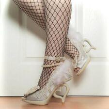 Irregular Choice 'Tingle Tastic' (A) Cream Heart Heel Peep Toe Shoes